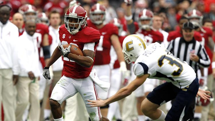 McCarron, No. 1 Alabama roll over Chattanooga 49-0