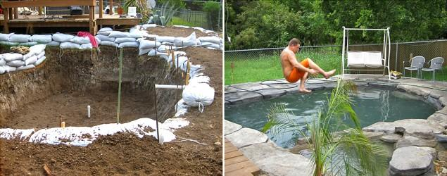 New dad builds dream swimming pool for his son