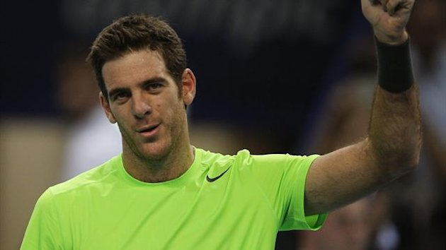 Argentina's Juan Martin del Potro reacts after winning his match against Brian Baker (Reuters)
