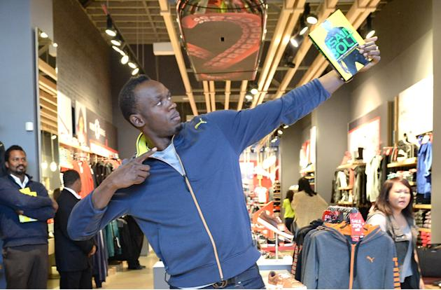 "PUMA Welcomes Usain Bolt For Book Signing Of His Autobiography ""Faster Than Lightning"" At The PUMA Store In Santa Monica"