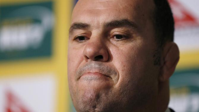 Michael Cheika is pictured after being announced as the new Australian Wallabies Rugby Union team coach in Sydney
