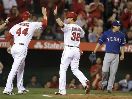 Pierzynski's HR pushes Rangers past Angels 7-6