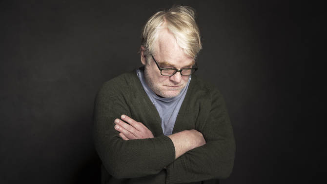 """In this Jan. 19, 2014 photo, Philip Seymour Hoffman poses for a portrait at The Collective and Gibson Lounge Powered by CEG, during the Sundance Film Festival, in Park City, Utah. Hoffman, who won the Oscar for best actor in 2006 for his portrayal of writer Truman Capote in """"Capote,"""" was found dead Sunday, Feb. 2, 2014, in his New York apartment. He was 46. (Photo by Victoria Will/Invision/AP)"""