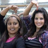 Sunny Leone Learning Bollywood Dance Moves From Ganesh Acharya's Assistant