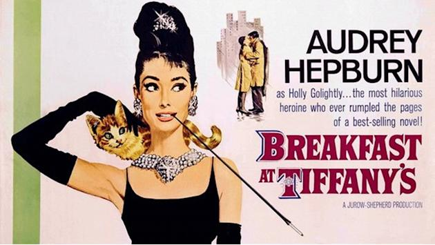 "This image released by Paramount Home Video shows a movie poster from ""Breakfast at Tiffany's starring Audrey Hepburn. Memorable movies, including ""Breakfast at Tiffany's,"" ""Dirty Harry,"" ""A League of"