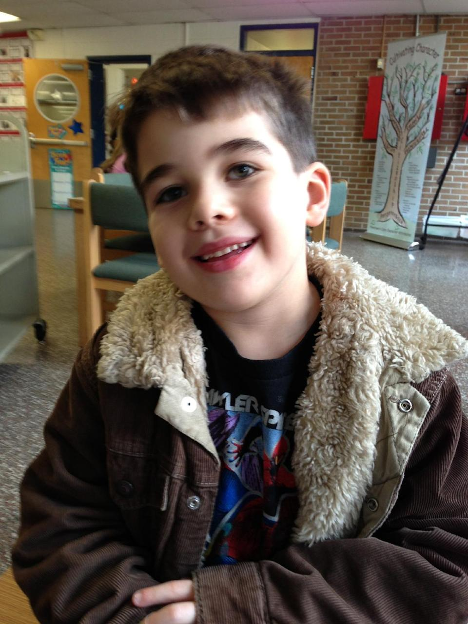 "NOAH POZNER, 6:  Noah was ""smart as a whip,"" gentle but with a rambunctious streak, said his uncle Alexis Haller. ""He was just a really lively, smart kid,"" Haller said. ""He would have become a great man, I think."" (AP Photo/Family Photo)"