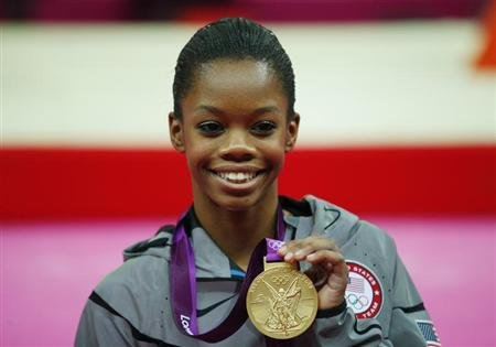 File photo of gold medallist Gabrielle Douglas of the U.S. during the London 2012 Olympic Games
