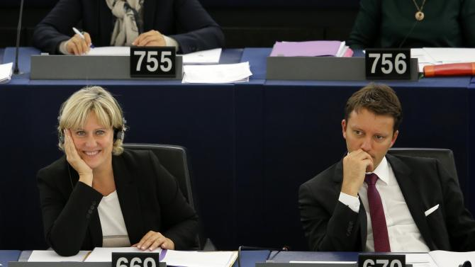 French member of the European Parliament Nadine Morano attends a session at the European Parliament in Strasbourg