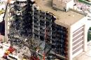 Aerial view of Alfred P. Murrah Federal Building showing damage following bombing attack in Oklahoma City