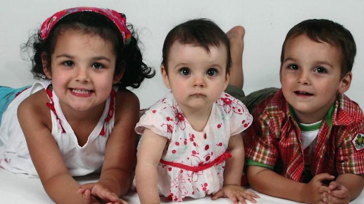 Laurélie,5, Anaïs, 2 and Loïc, 4, were found dead in their mother's Drummondville home last week.