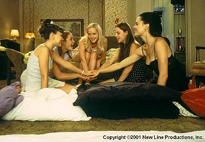 (left to right) Sara Marsh , Rachel Blanchard , Marley Shelton , Mena Suvari and Melissa George in New Line's Sugar and Spice