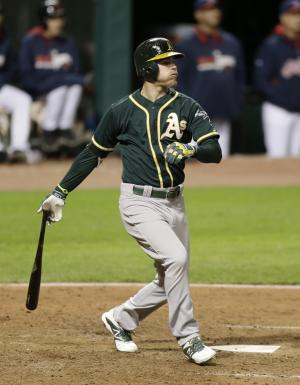 Reddick has 2 HRs, 6 RBIs as A's beat Indians 11-1