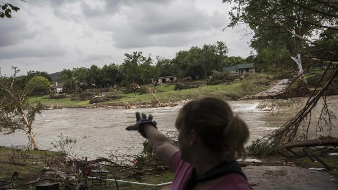 Amy Gilmour describes how the Blanco River crested at a record 43 feet during the Memorial Day weekend floods in Wimberley Texas
