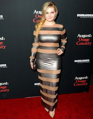 Abigail Breslin, 17, Rocks Mature, Sheer Cutout Dress at August: Osage County Premiere