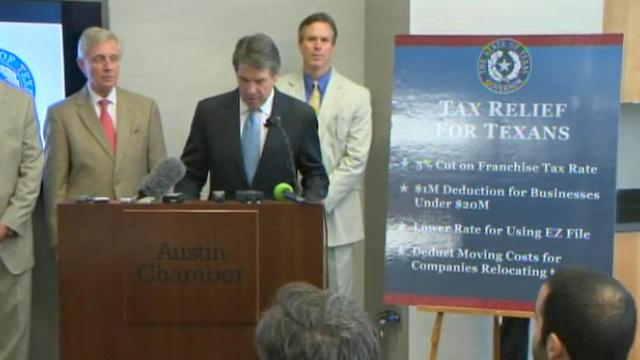 Perry outlines long-awaited plan aimed at tax relief for businesses