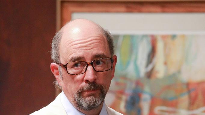 "Richard Schiff stars as Harrison in ""House of Lies."""