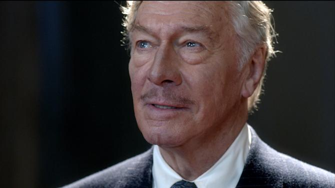 """This film image released by Image Entertainment shows Christopher Plummer portraying John Barrymore in """"Barrymore."""" (AP Photo/Image Entertainment)"""