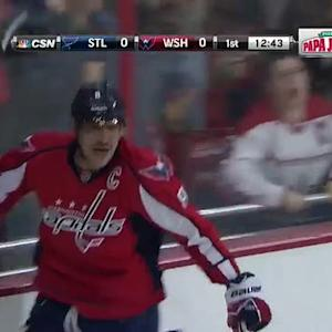 Alex Ovechkin fires rocket shot past Halak