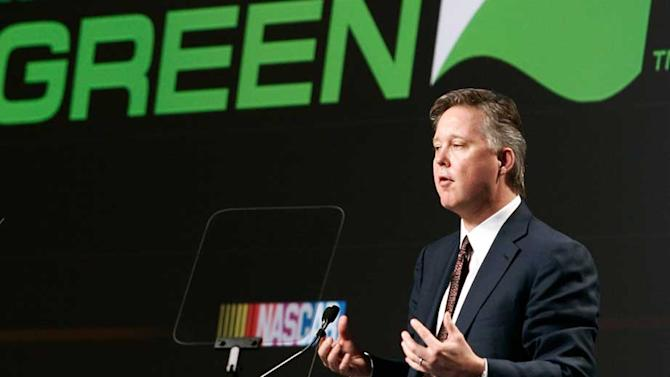 Brian France's vision set NASCAR Green course