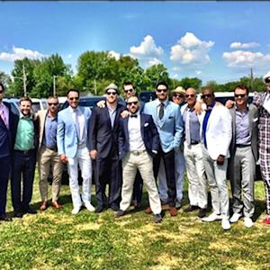 New England Patriots taking in the Kentucky Derby