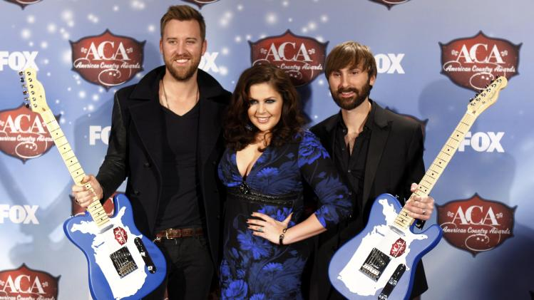 Lady Antebellum poses with their awards during the 4th annual American Country Awards in Las Vegas