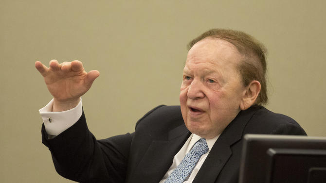 Casino mogul more argumentative 2nd day on stand