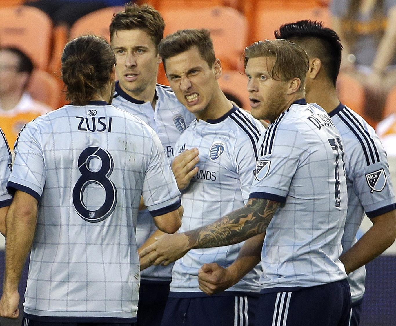Sporting KC scores 3 times in 14 minutes, beats Revolution