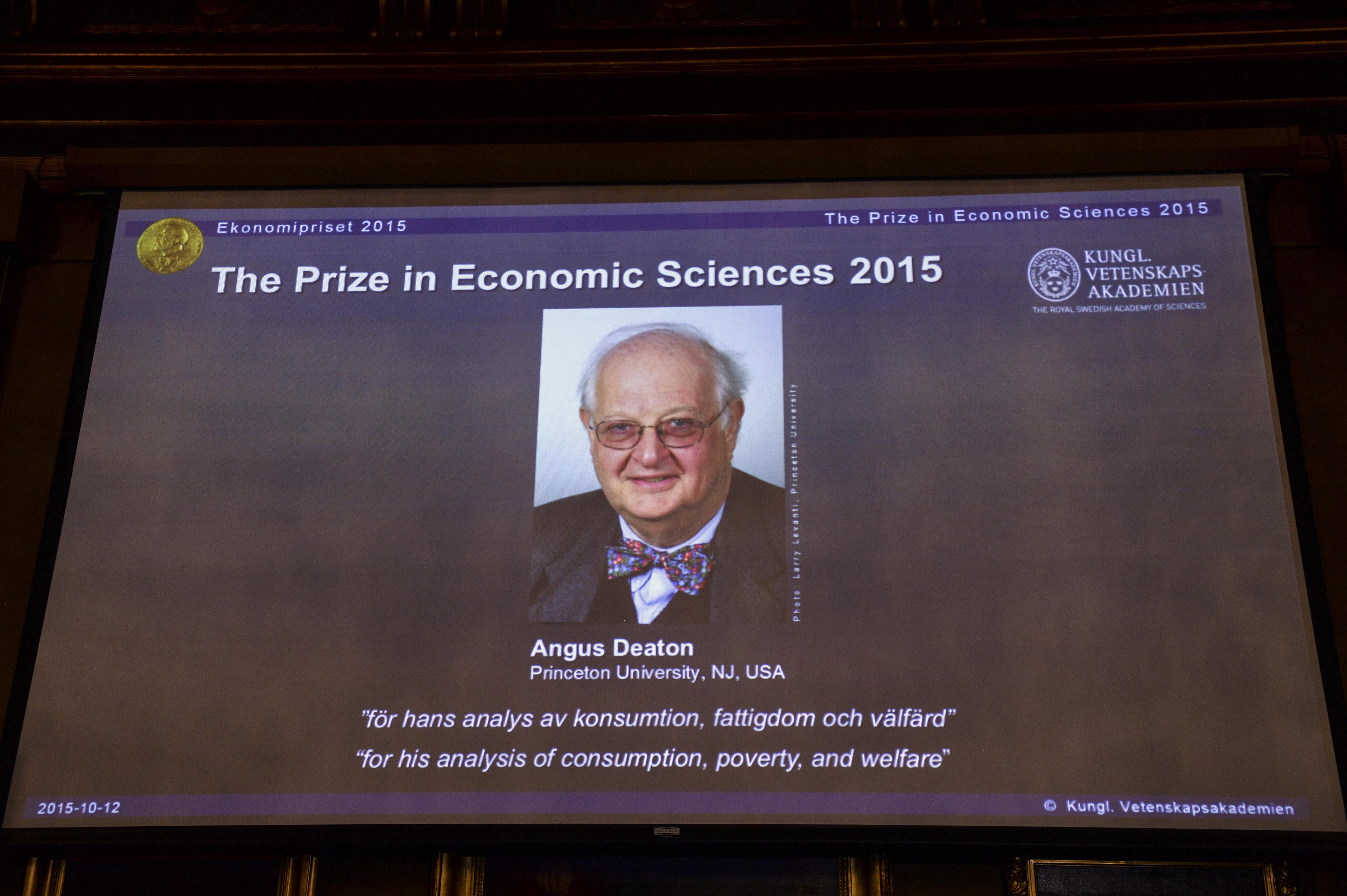 Angus Deaton wins Nobel economics prize for work on poverty