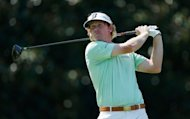 Brandt Snedeker watches his tee shot on the fifth hole during the third round of the Tour Championship at East Lake Golf Club in Atlanta, Georgia. Snedeker shot a bogey-free 64
