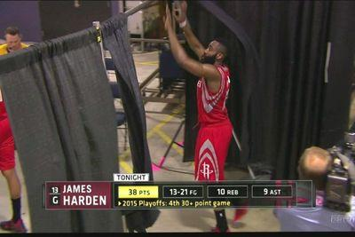 Frustrated James Harden goes on curtain destruction spree after Rockets' loss