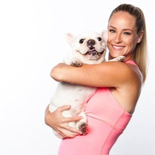 Jessica and her dog Peanut...isn't she cute?