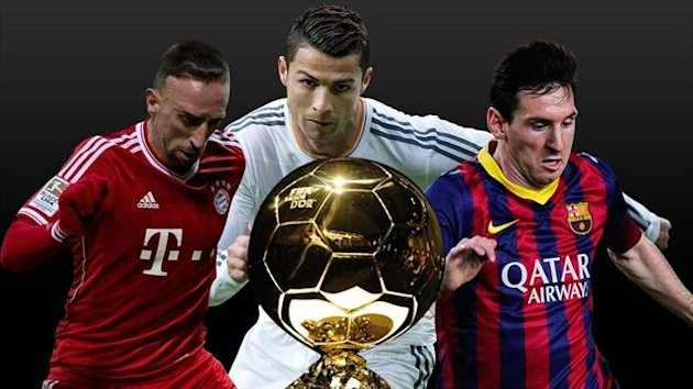 Ballon d'Or 2013 new picture Ribery Messi Ronaldo