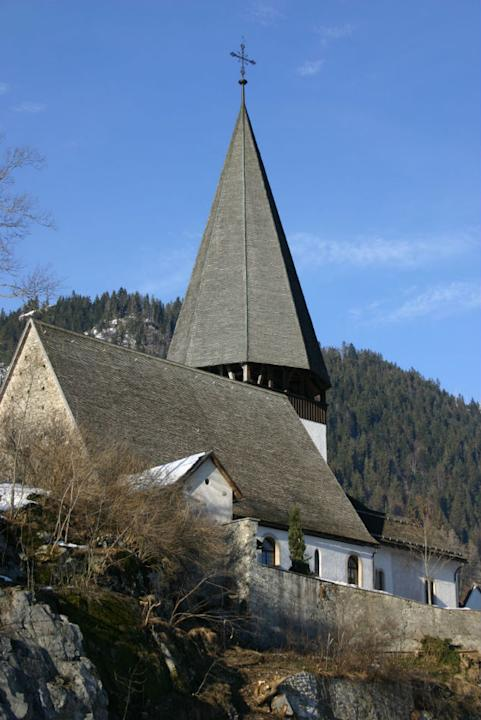 The church steeple at Saanen
