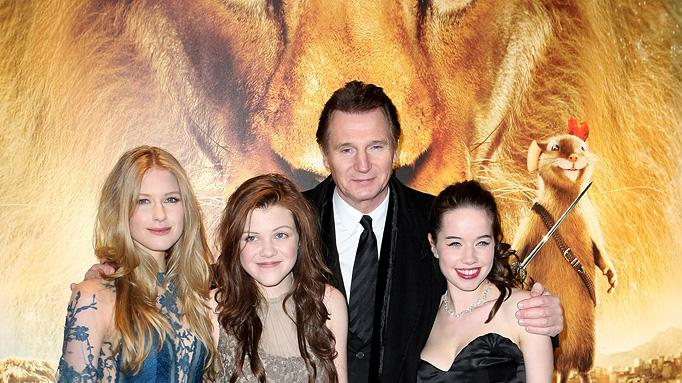 The Chronicles of Narnia The Voyage of the Dawn Treader 2010 UK Premiere Laura Brent Georgie Henley Anna Popplewell Liam Neeson