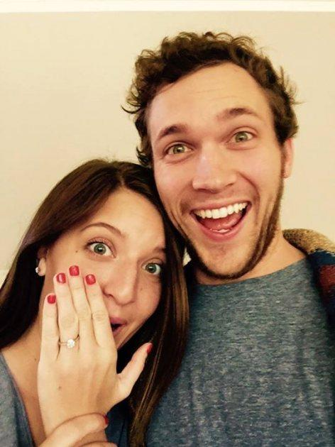 Phillip Phillips got engaged to girlfriend Hannah Blackwell on December 26, 2014 -- Facebook
