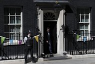 US Republican presidential candidate, Mitt Romney, leaves after meeting British Prime Minister, David Cameron, at Downing Street in central London. Cameron insisted Thursday that Britain would deliver a memorable Olympics after Romney backtracked on barbed comments he made about the London Games