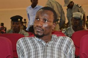Mahamat Mustapha Bananaye, a man accused of being a high ranking member of insurgent group Boko Haram, attends his trial in N'Djamena, Chad
