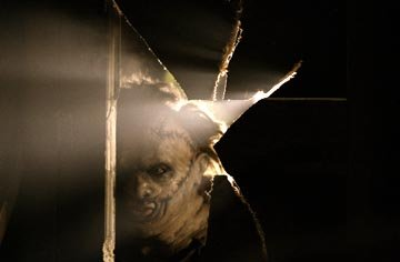 Andrew Bryniarski as Leatherface in New Line's The Texas Chainsaw Massacre