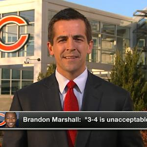 How will Chicago Bears respond to Brandon Marshall's comments?