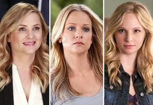Jessica Capshaw, AJ Cook, Candice Accola | Photo Credits: Ron Tom/ABC; Cliff Lipson/CBS; Annette Brown/The CW