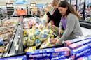 Customers shop for turkey at a Walmart store in the Porter Ranch section of Los Angeles