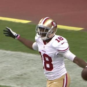 San Francisco 49ers quarterback Josh Johnson to Lance Lewis for 49 yards