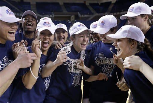 Navy women beat Holy Cross 72-53 to win Patriot