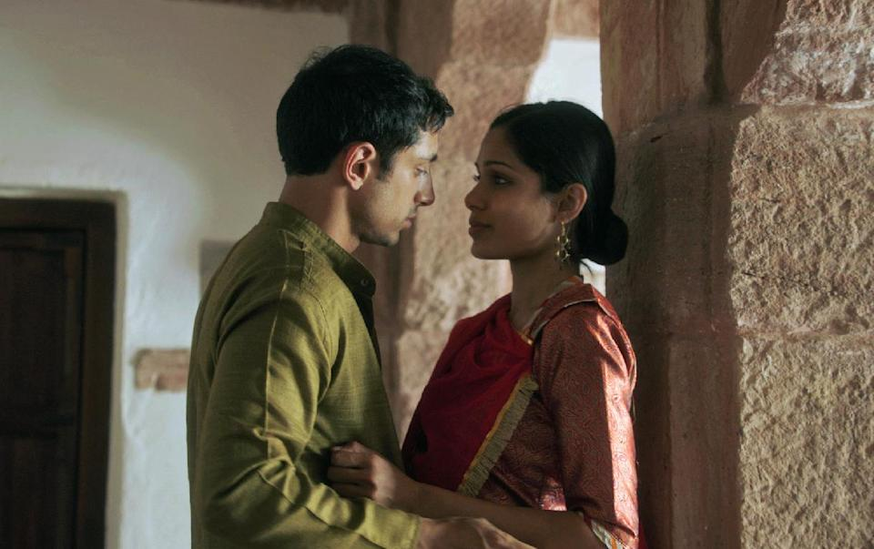 "In this film image released by Tribeca Film Festival, Riz Ahmed, left, and Freida Pinto are shown in a scene from ""Trishna,"" a film by Michael Winterbottom which premiered at the Tribeca Film Festival in New York. (AP Photo/Tribeca Film Festival, Marcel Zyskind)"