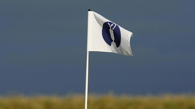 GOLF Generic picture of a flag at The Open Championship