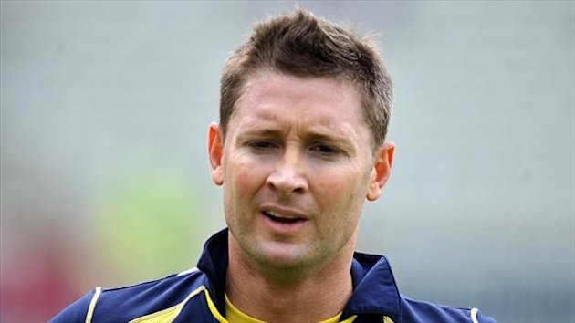 Michael Clarke is struggling with a back injury