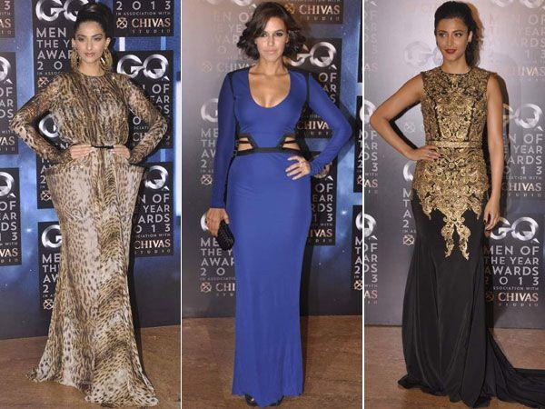 Celeb Style: Actresses Flaunt Stunning Gowns at GQ Awards 2013