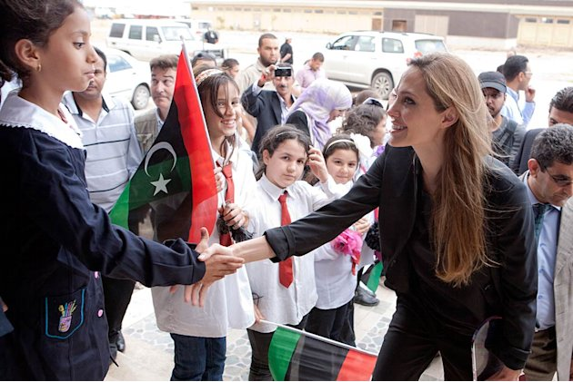 Angelina Jolie Libya