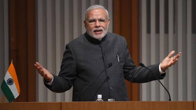 Lawyers for human rights group the American Justice Center (AJC) filed a civil case on Thursday in New York seeking damages from Indian Prime Minister Narendra Modi (pictured) over deadly anti-Muslim riots in 2002