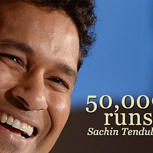 50,000 Runs For Sachin Tendulkar